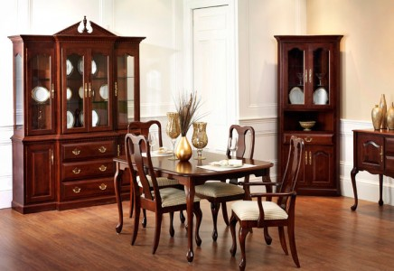 queen anne dining room amish furniture designed