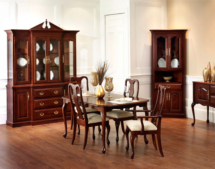Queen anne dining room amish furniture designed - Queen anne dining room furniture ...