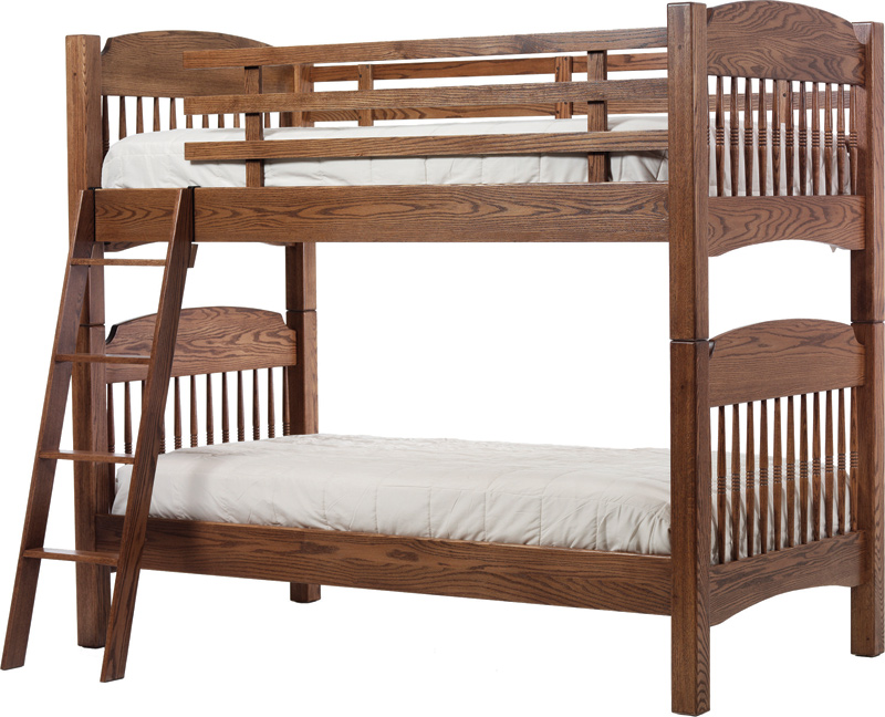 Colonial Bunk Bed Amish Furniture Designed