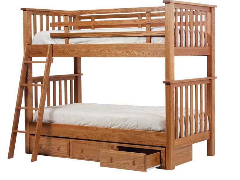 Mission Bunk Bed Amish Furniture Designed