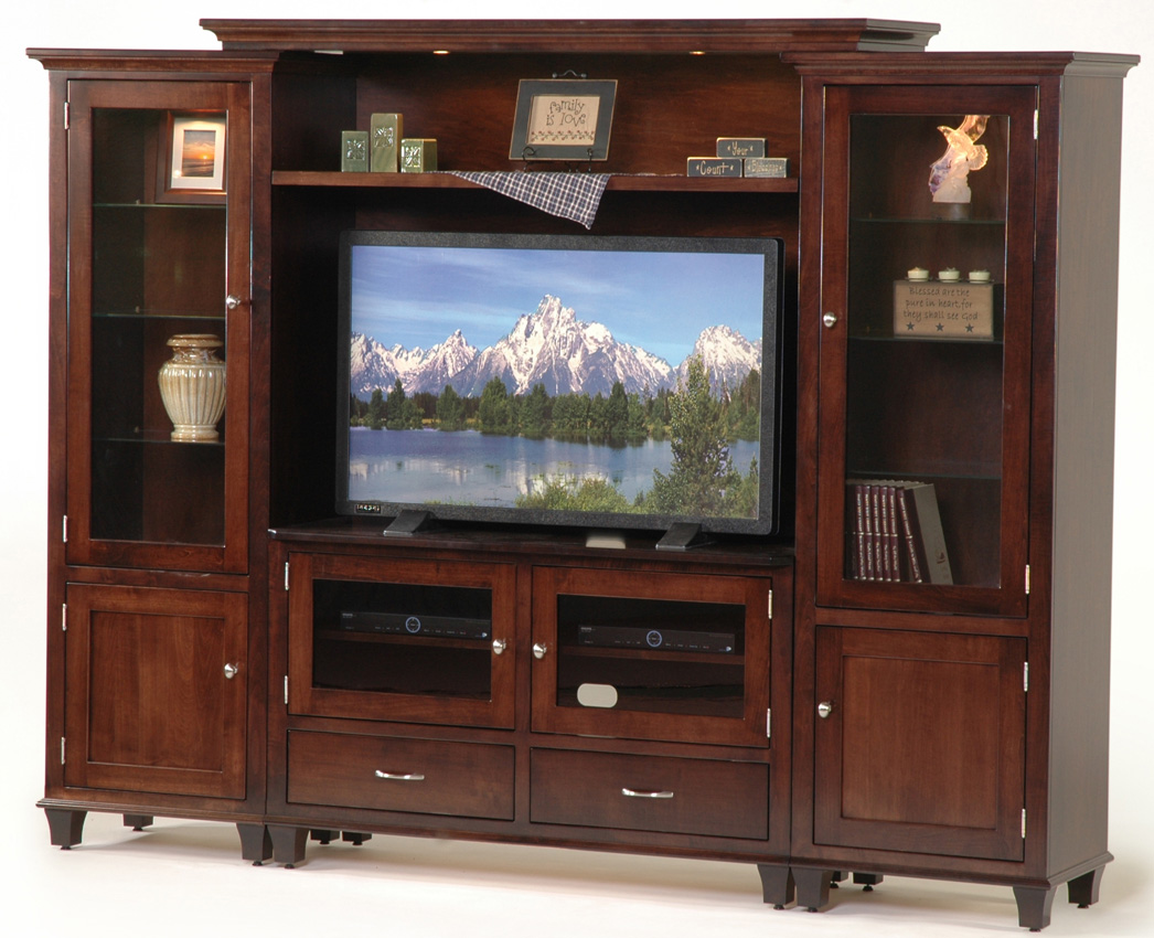 Bridge wall unit amish furniture designed Wall unit furniture