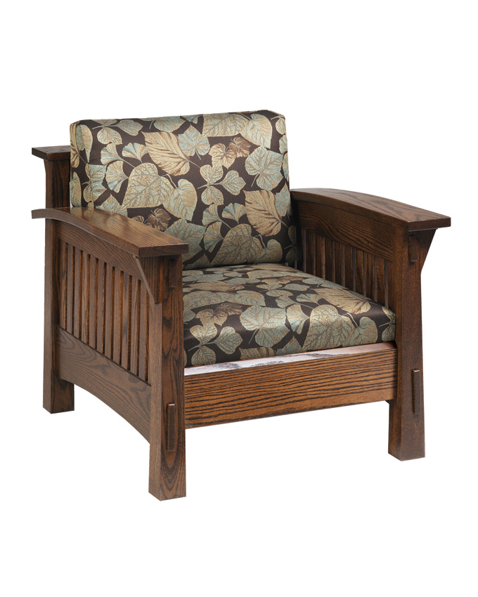 Country Mission Chair Amish Furniture Designed