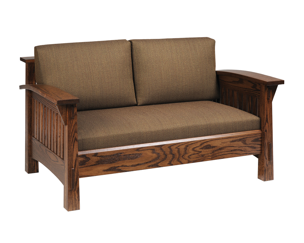 Country mission sofa amish furniture designed for Mission furniture