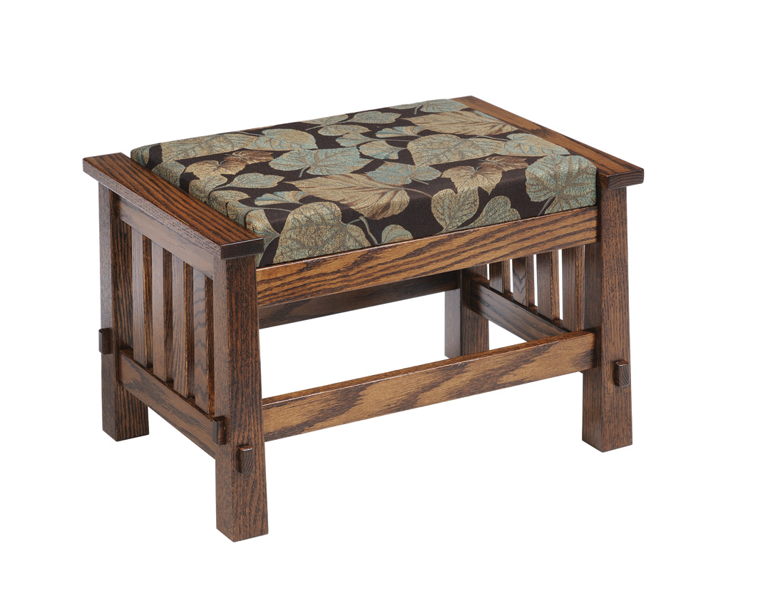 Country Mission Ottoman Amish Furniture Designed