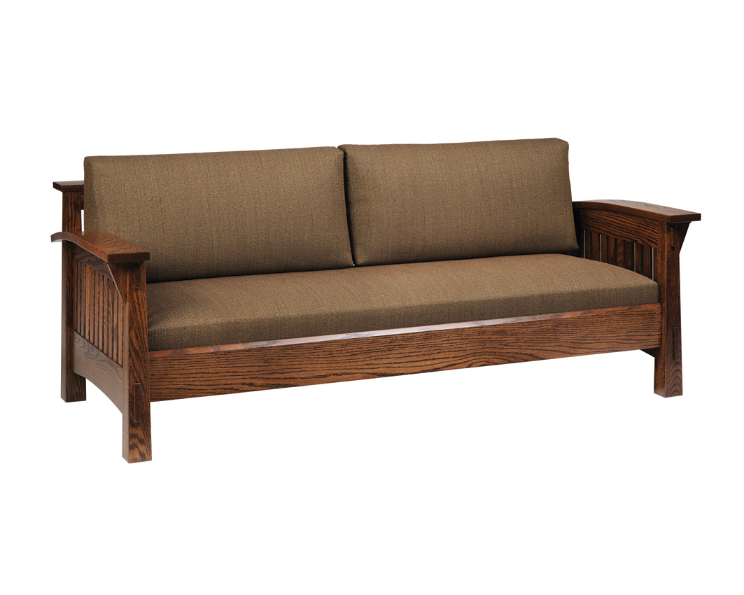 Country Mission Sofa Amish Furniture Designed