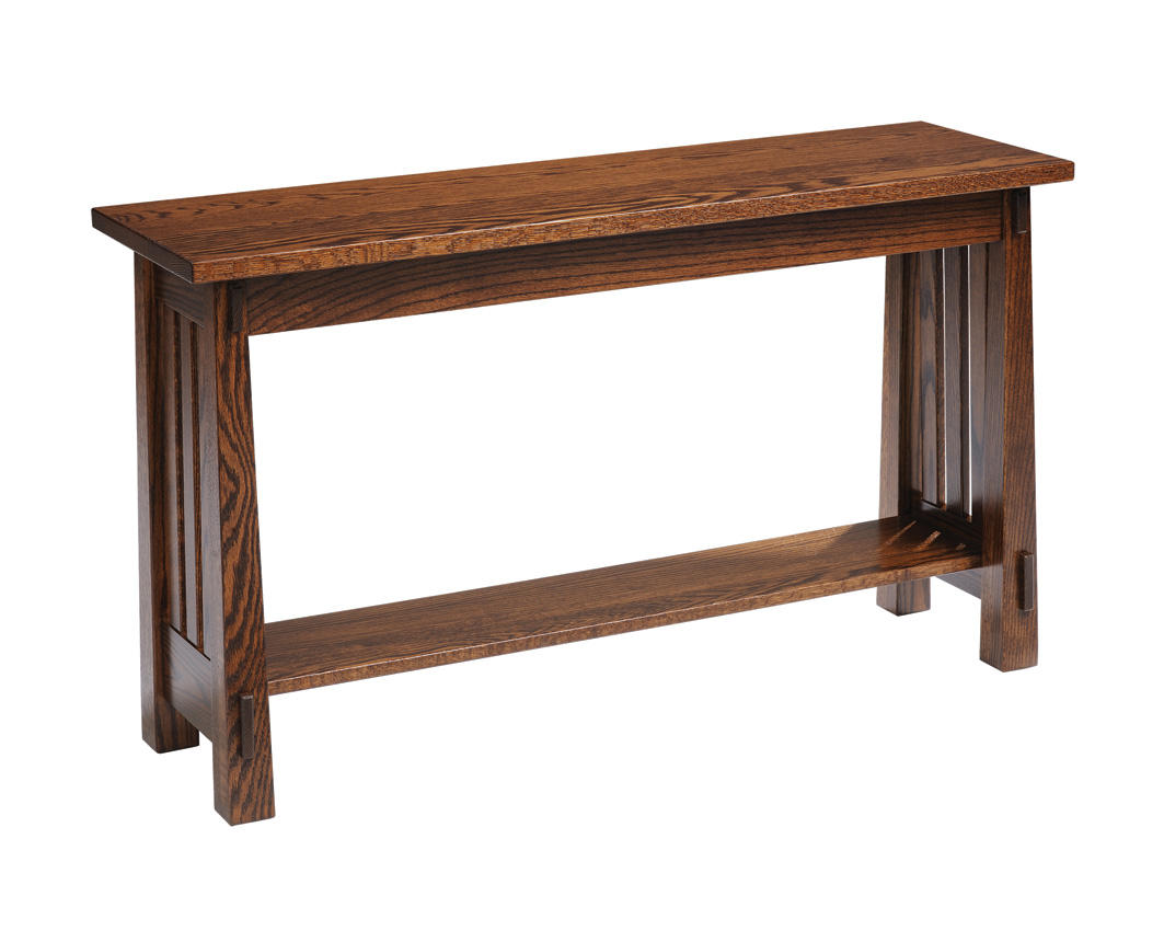 Country mission sofa table amish furniture designed for Sofa table pictures