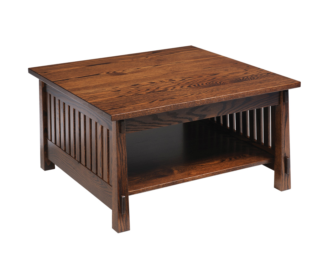 Country mission square coffee table amish furniture designed Furniture coffee tables