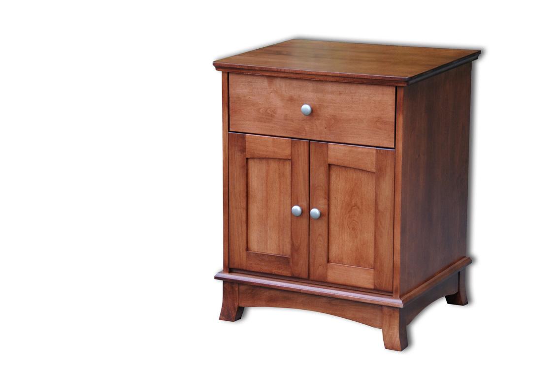 Cresent Nightstand Amish Furniture Designed