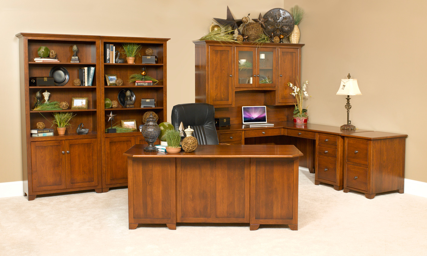 Cherry Valley Office Suite Amish Furniture Designed