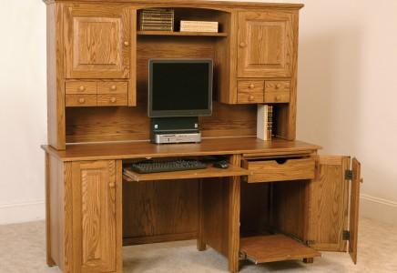 Doughtey Ridge Deluxe Desk Amish Furniture Designed
