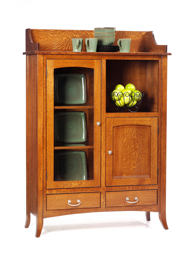 English Shaker Hutch Amish Furniture Designed