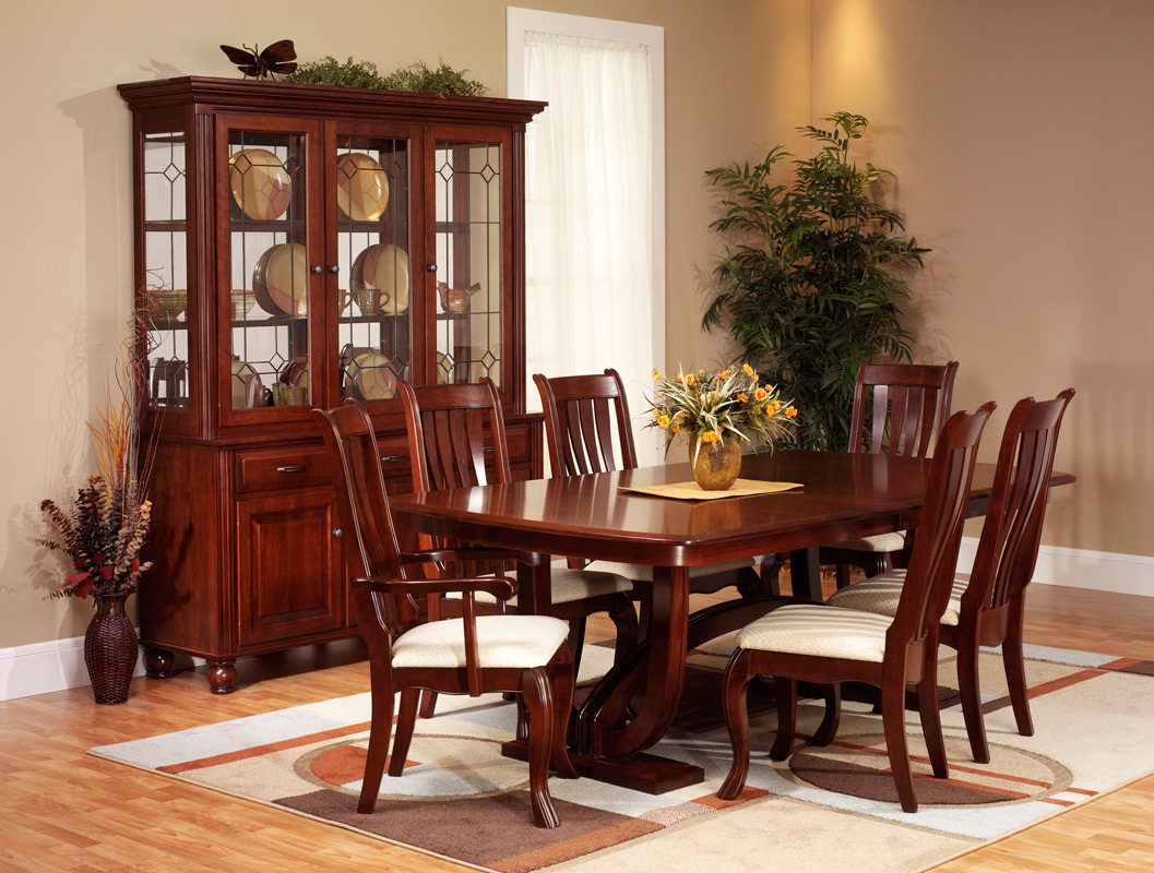 Hampton dining room amish furniture designed for Wooden dining room furniture