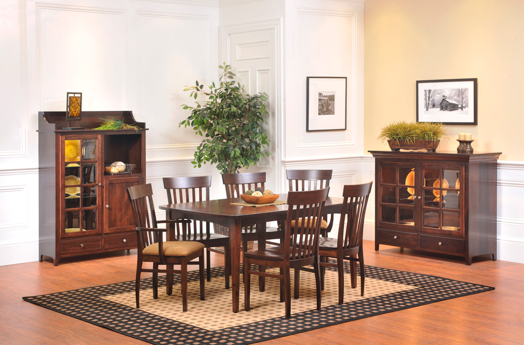 lexington shaker dining room amish furniture designed