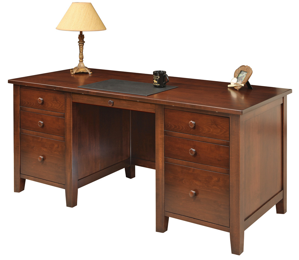 manhattan desk amish furniture designed. Black Bedroom Furniture Sets. Home Design Ideas