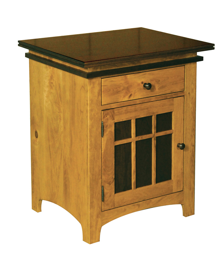 Maple creek nightstand amish furniture designed for Maple furniture