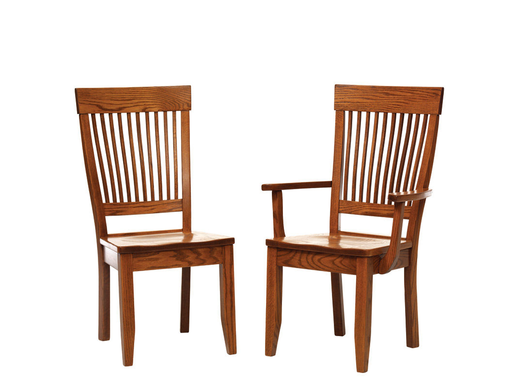 Newport shaker chairs amish furniture designed for Shaker furniture