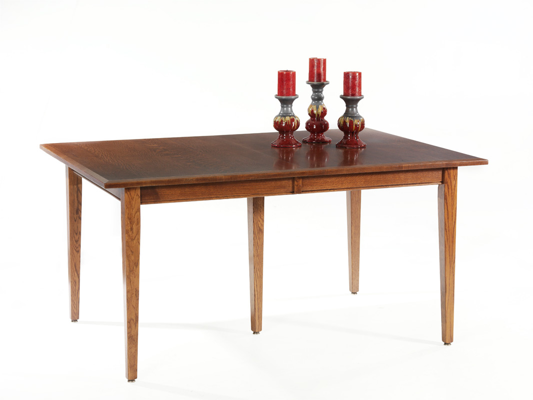 Newport shaker table amish furniture designed for Shaker furniture