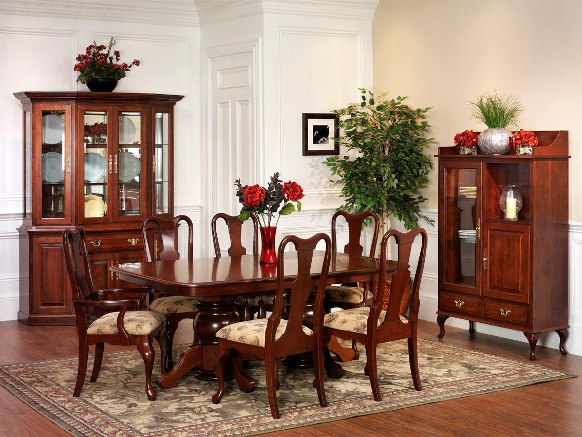 Queen victoria dining room amish furniture designed