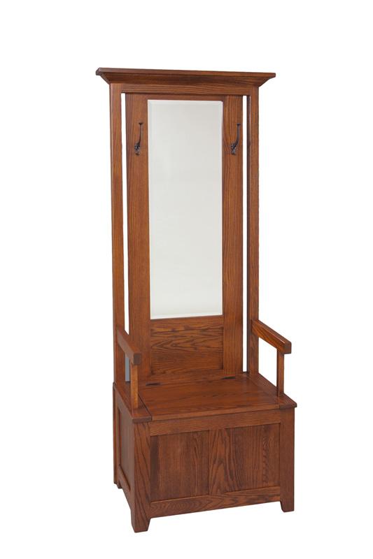 Hall Seat Amish Furniture Designed