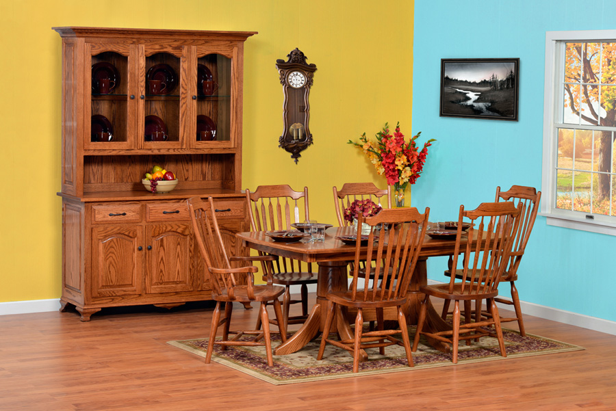Plum creek dining room amish furniture designed for Plum dining room chairs